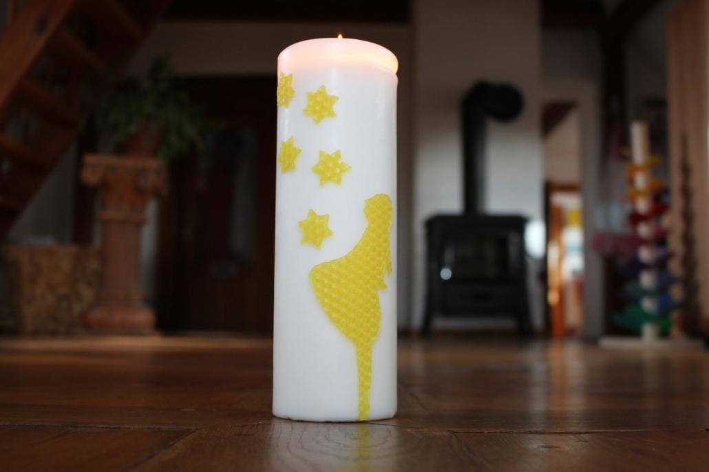 Mit Bienenwachsplatten Verzierte Kerzen Utas Glück