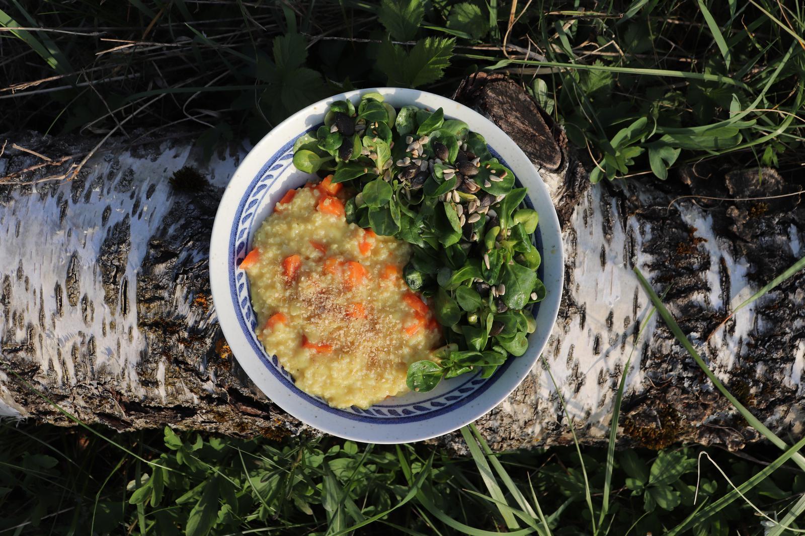 Hirsotto|Hirse|vollwertig|vegane Familienküche|vegan
