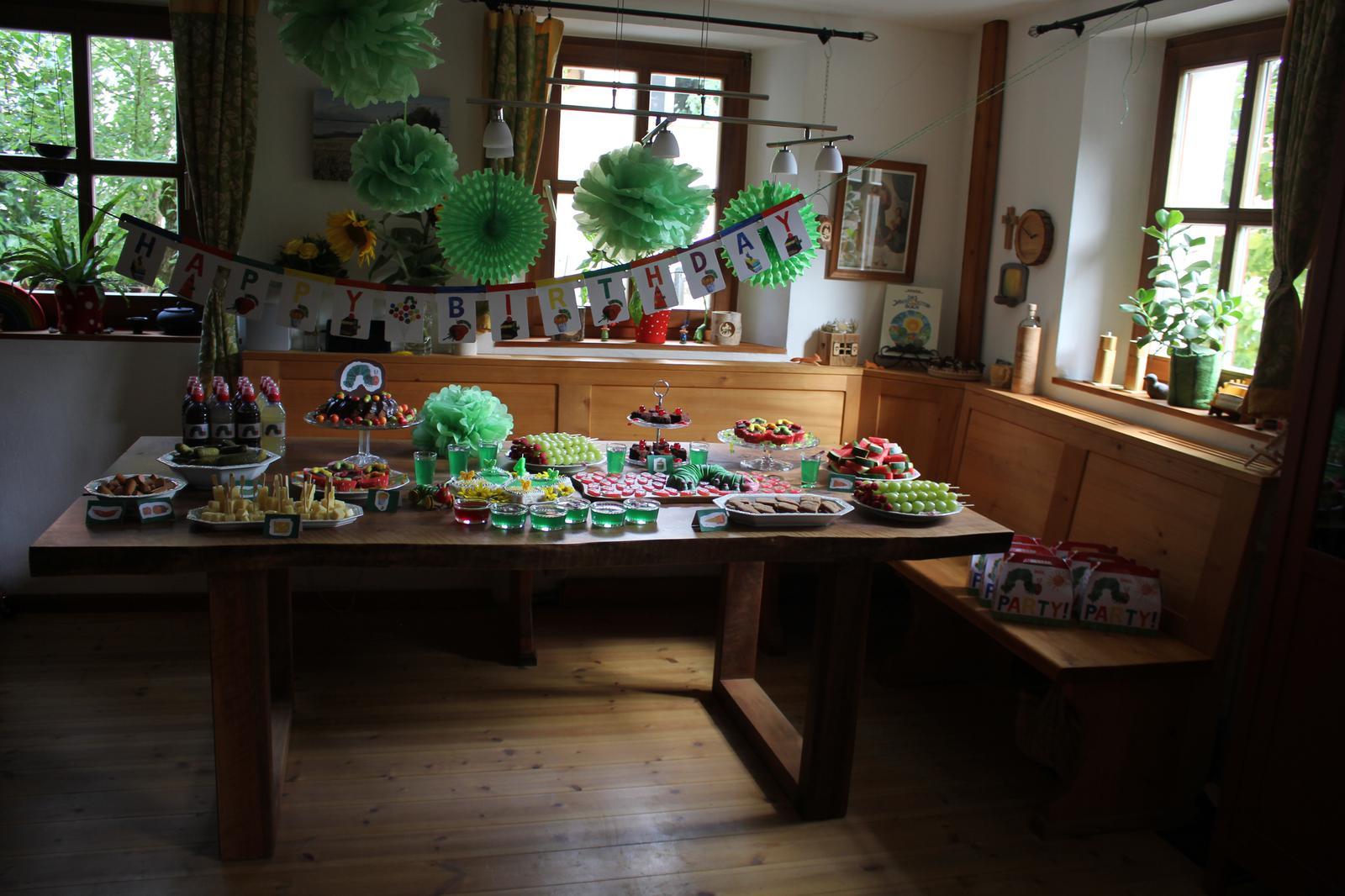 Raupe Nimmersatt Party|Die kleine Raupe Nimmersatt|Very hungry caterpillar|Eric Carle|Kindergeburtstag|Kinderfest|Mottoparty|Mottogeburtstag