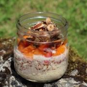 Vegane Overnight Oats|Overnight Oats|vegan|veganes Frühstück|vegan frühstücken|vegan und vollwertig|vegane Frühstücksideen