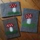 Fliegenpilzbücher filzen|Fliegenpilz filzen|Glückspilzbücher filzen|Glückspilzbücher|Filzen|Motive filzen|nassfilzen|Motive nassfilzen|Glückspilze|GeschenkideeDIY|Filzliebe