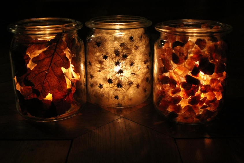 Kerzengläser|Zauberlichter|Windlichter|Windlichter DIY|DIY|Upcycling|Naturmaterialien|Zero Waste