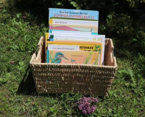 Unser Bücherkorb im Sommer|Bücherkorb|Sommerbücher|Vorlesen|Vorlesebücher|Bilderbücher für den Sommer|Bilderbücher|Bücherkorb|Lieblingsbücher|Lieblingsbücher für den Sommer