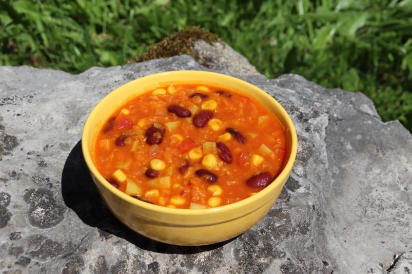 Veganes Chili|Vegetarisches Chili|Chili sin carne|Vegan|Vegane Familienküche|vegane Familienrezepte|Glücksküche|Hülsenfrüchte