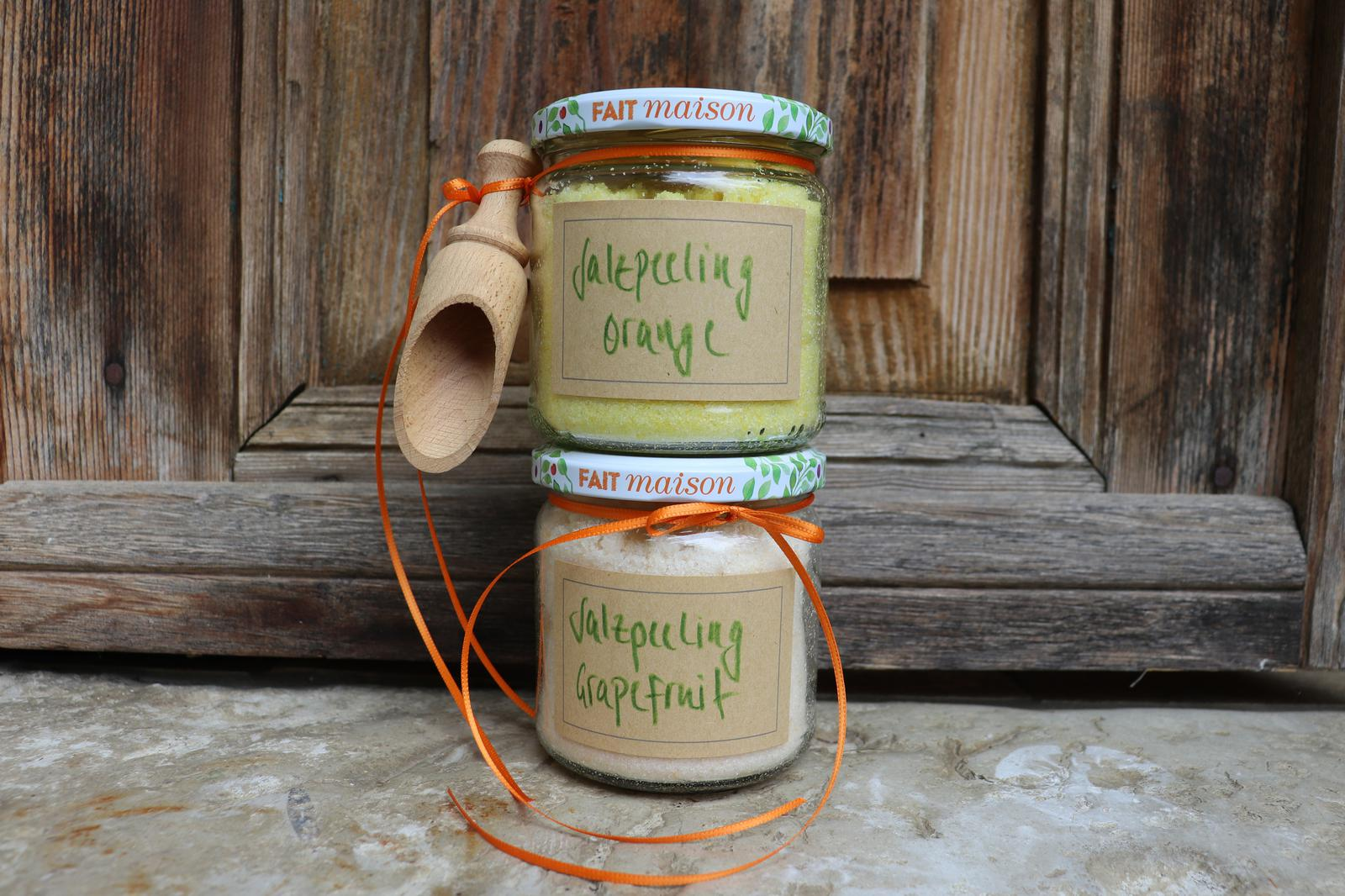 Selbstgemachte Salzpeelings|Salzpeelings|Naturkosmetik|DIY|Orangenpeeling|Grapefruitpeeling|Orangen-Salzpeeling|Grapefruit-Salzpeeling|kleine Geschenke|DIY-Geschenke,ätherische Öle|Sauna-Salzpeeling|Saunasalz|Orangen-Saunasalz|Grapefruit-Saunasalz|Orange|Grapefruit|Pampelmuse